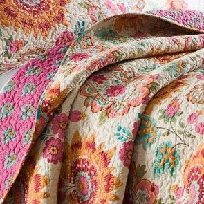 Floral Collage Coverlet by Macey & Moore