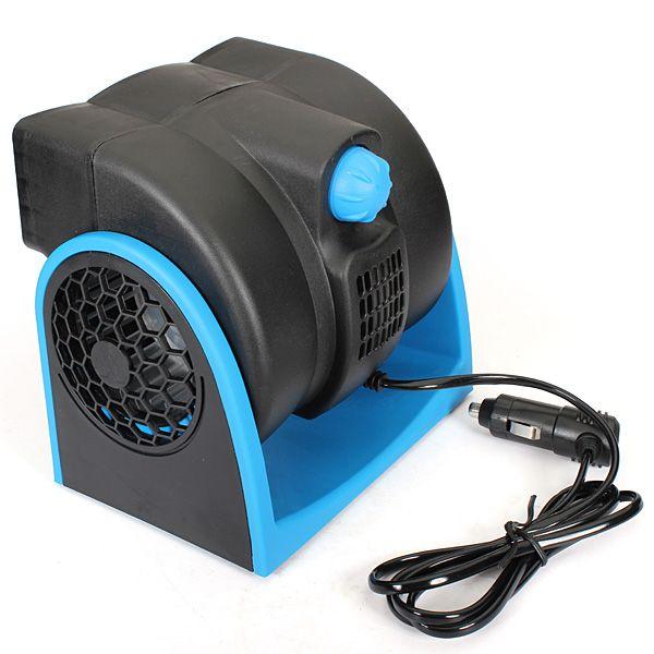 DC12V 7W Mini ventilador elétrico Rodas de vento duplo para caminhão de carro Ar Condicionado de veículo