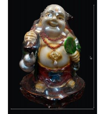 Laughing Budhhaa With Leaf In Hand @ Rs 600  Krafthub offers to buy laughing budhhaa with leaf in hand   online @ best price with discounted price in india
