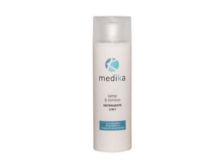 Latte detergente 2 in 1 per la pulizia profonda del viso, lascia la pelle nutrita e fondo e libera da impurità - 14.90€