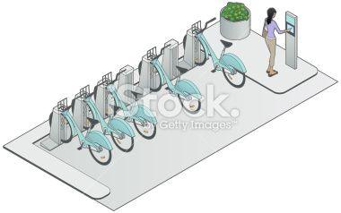 Bike Sharing Image Royalty Free Stock Vector Art Illustration