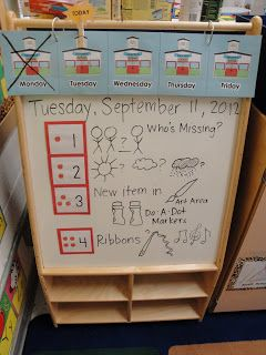 Wild About Pre-K: morning message example