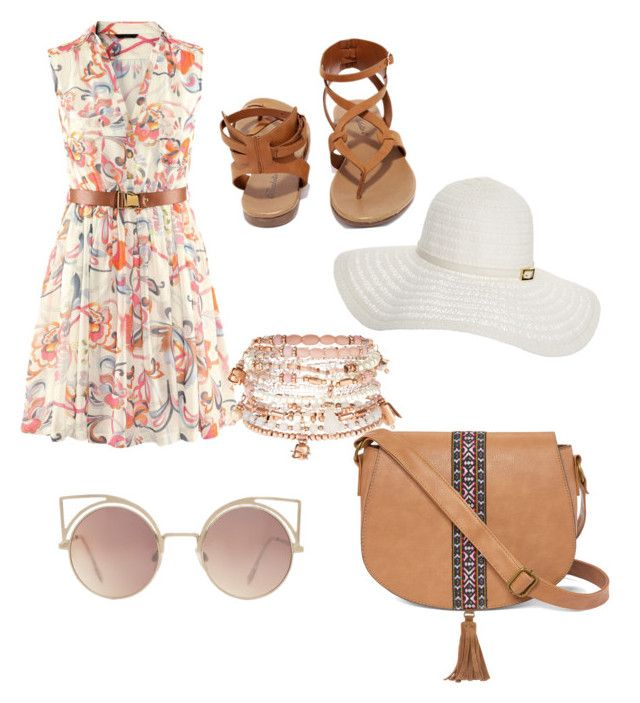 """""""Untitled #1"""" by suralbayaty on Polyvore featuring Breckelle's, Accessorize, T-shirt & Jeans, MANGO and Melissa Odabash"""