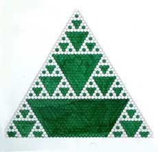 Pascal's Triangle multiples of Two - More triangle variations on page - good inspirational source for patchwork!