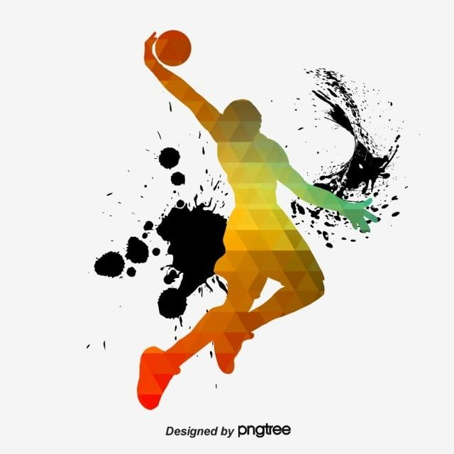 Creative Color Basketball Players Sports Bodybuilding Creative Png Transparent Clipart Image And Psd File For Free Download In 2020 Creative Colour Basketball Players Creative