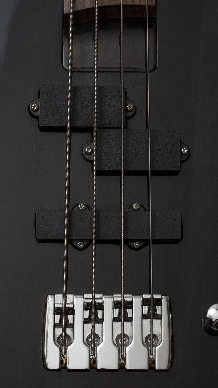 GUITAR BASS ELECTRIC MUSIC DARK BLACK ILLUSTRATION ART WALLPAPER HD IPHONE
