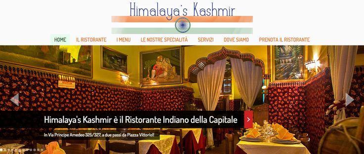 Realizzazione sito web del ristorante indiano Himalaya's Kashmir http://www.himalayaskashmir.com/