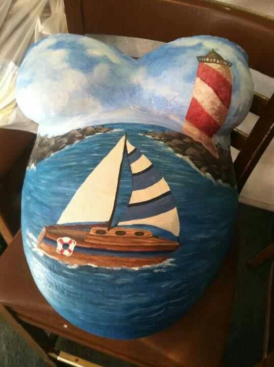 This is such a cool idea painted belly cast art for a nursery
