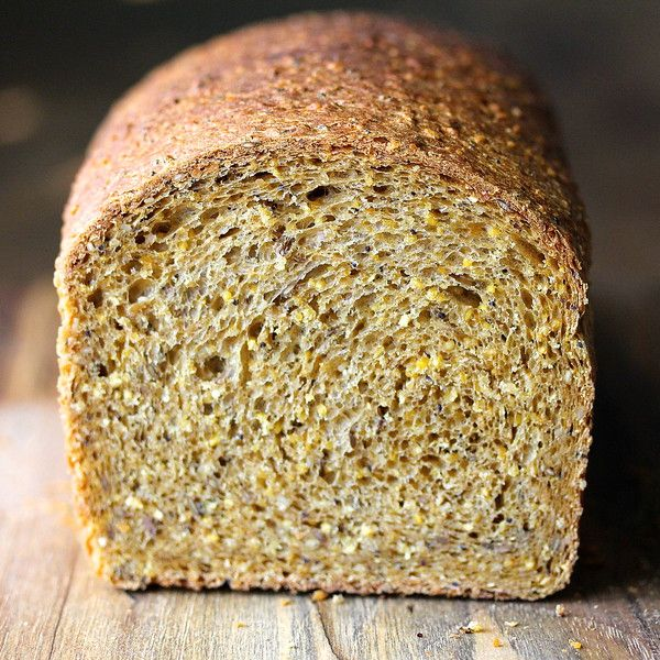Anadama Bread with Sesame, Flax, and Poppy Seeds