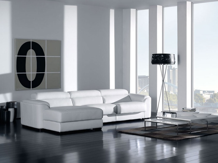 The elegant Berna sectional sofa and the stylish Tweens coffee table