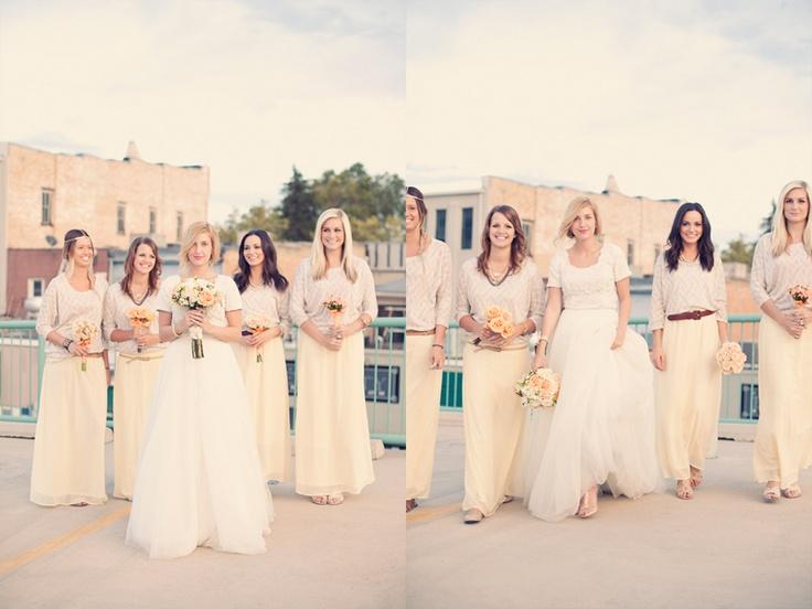 Long tulle skirts: Bridesmaid Men