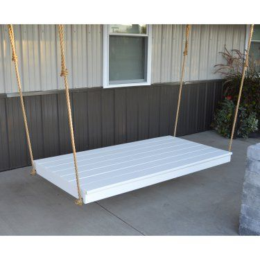 A & L Furniture Yellow Pine Newport Swing Bed with Rope Included - Holds 75 in. Twin Size Mattress