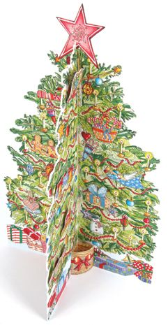 Traditional Christmas Tree Advent Calendar - dress your tree with 24 festive decorations, finishing with a star on the top.
