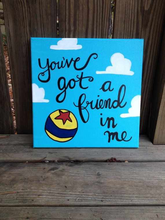 You've Got a Friend in Me Toy Story by WorksofWhimsyWallArt, $15.00
