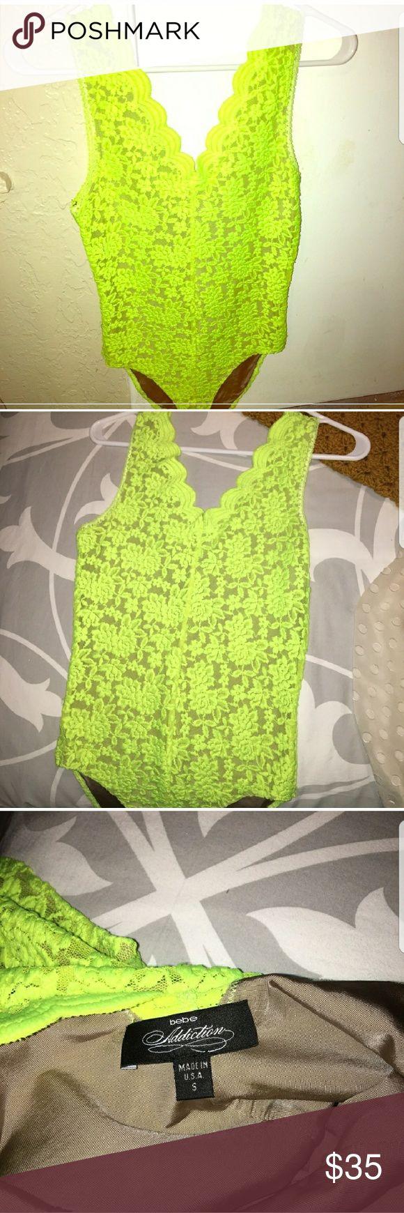 BEBE neon yellow green bodysuit Neon yellow green bodysuit bebe Tops Tank Tops