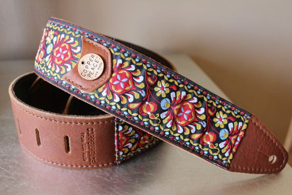 Hey, I found this really awesome Etsy listing at https://www.etsy.com/listing/108458263/gypsy-leather-guitar-strap