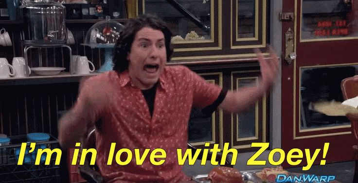 """And proclaims his undying love for Zoey. 