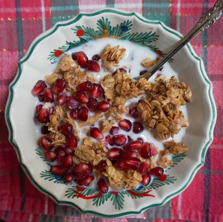 Pair Israel's Best Granola with pomegranate seeds and almond milk for ...