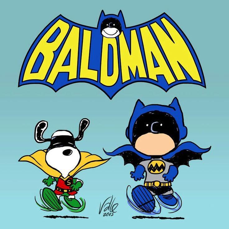 Batman meets Peanuts Mashups
