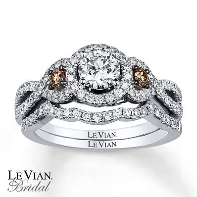 Le Vian Bridal Set 1 1/5 ct tw Diamonds 14K Vanilla Gold - One of my favorites