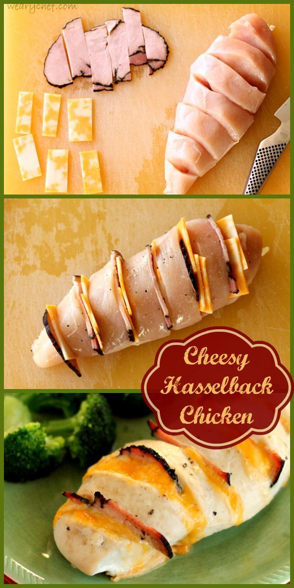 Cheesy Hasselback Chicken - Don't miss this easy, elegant, delicious chicken dish ready in 30 minutes!.