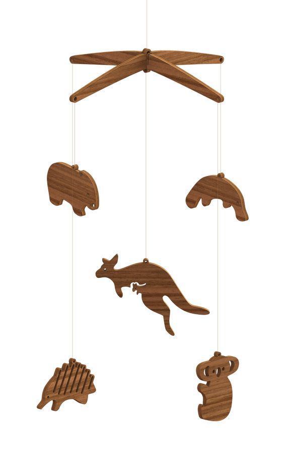 Australian Animal Hardwood Mobile