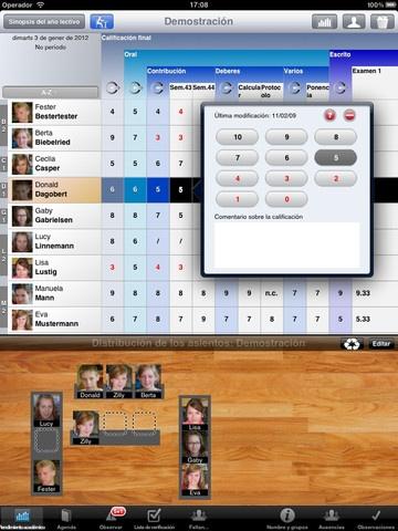 TeacherTool es un calendario para profesores, un libro de calificaciones y un cuaderno del curso electrónicos todo en uno. Gratis
