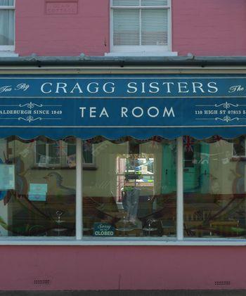 Aldeburgh Mis-matched china, proper leaf tea, homemade cakes - perfect...