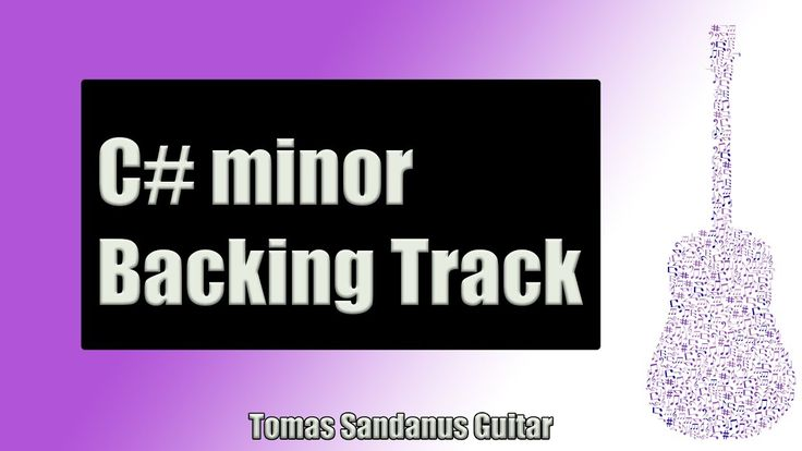 Backing Track in C# minor Pop Rock Style with Chords & C# minor Pentatonic Scale
