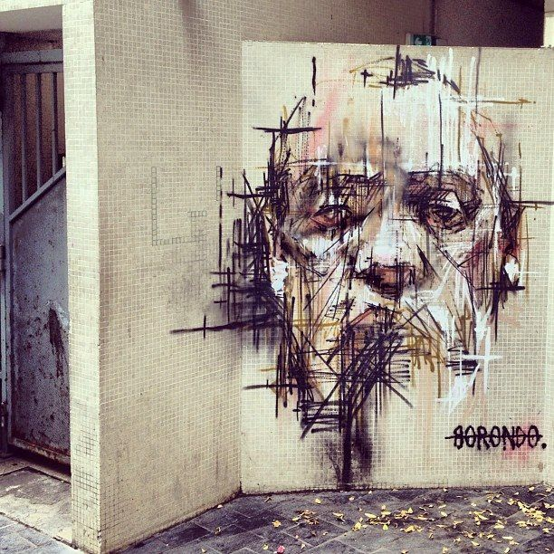 Street art by Borondo in Vitry sur Seine, France