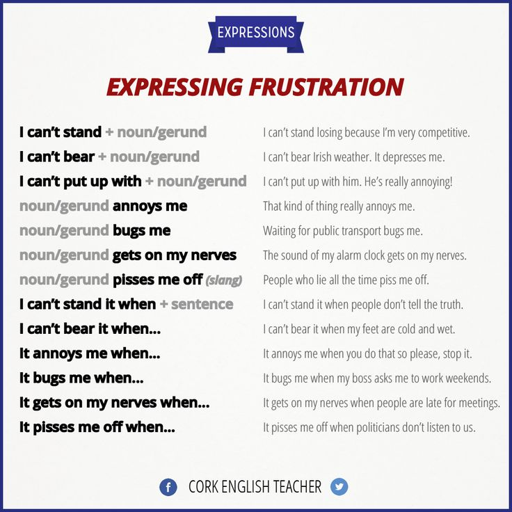 expressing frustration   IDIOMS / EXPRESSIONS   Pinterest