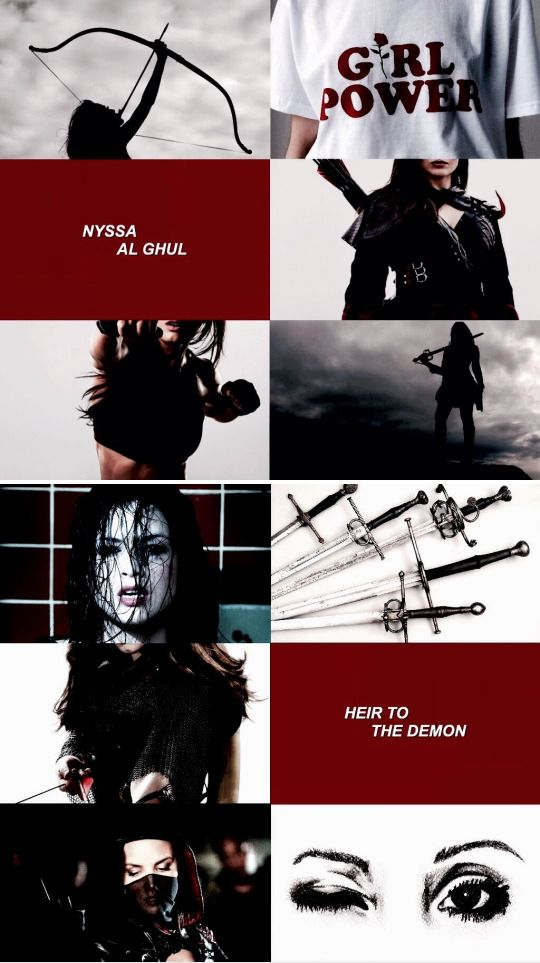 """Character Aesthetics: Nyssa Al Ghul ↳ """"In civilization's past, when someone in the village is murdered, the league would come and kill 50 people a day until the true criminal is rooted out. Find and deliver the one who killed Ta-Er Al-Sahfer. You have 48 hours, or the citizens of Starling City will see what the League of Assassins are capable of."""""""