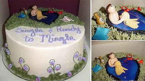 Esse daí foca nos aspectos positivos de ser solteiro. | 24 bolos de divórcio hilários que são até melhores do que bolos de casamento