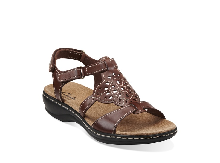 Leisa Taffy in Brown Leather - Womens Sandals from Clarks
