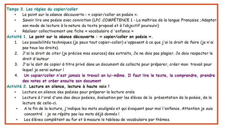 Fran ais documentation 5 me po sie et enfance du copier for Collant mural francais