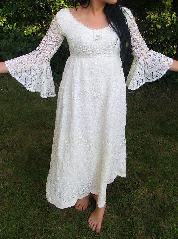 Hippie Chic Wedding Dress by SprightlyandCo on Etsy, $69.99