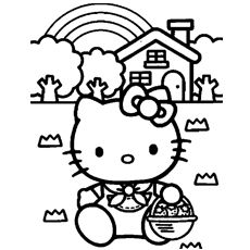78 best Coloring-Hello Kitty images on Pinterest | Hello ...