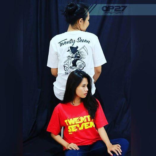 T-shirt TOP27-024 White dan TOP27-025 Red  087845622777 (WA, SMS, & Telp) / D17560D1 (BBM) / op27factory (LINE)