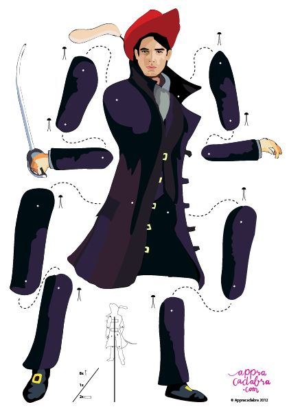 articulated paper dolls | Appracadabra kind kids app Theater Free Goodie printable Prince
