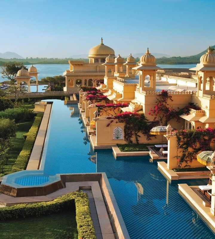 The Oberoi Udaivilas Udaipur, India sky leisure property Resort building palace resort town swimming pool Villa place of worship mansion
