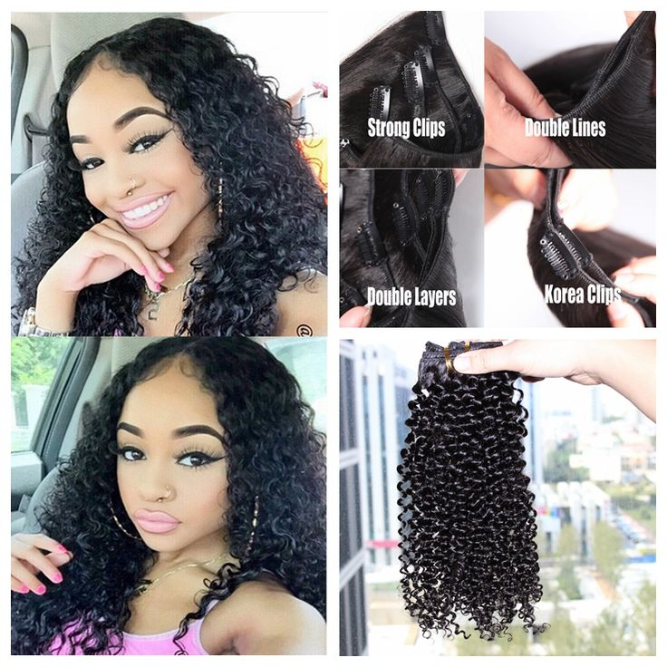 91 best clip in human hair extension images on pinterest hair 2016 new coming clip in natural curly hair extensions grade virgin brazilian hair clip human in hair extensions pmusecretfo Gallery