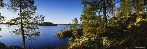 Photographic Print: Lake Saimaa, Puumala, Finland …