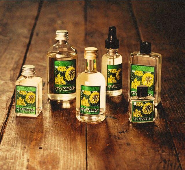 Furze - De inspiratie achter dit parfum komt van Furze of Gorze, een engelse heidesoort. Het verhaal gaat dat de oude Vikingen het gebruikten bij het brouwen van hun bier en dat het, wanneer het bij je in de tuin groeit, beschermt tegen betoveringen.   Wanneer je het gebruikte om een bezem van te maken kon je 'het kwaad' ermee weg vegen!   Vanille, cocos en een vleugje mimosa vormen een zachte, haast romige geur.