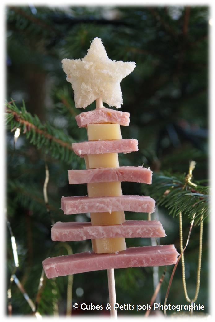 Ham and cheese's christmas tree for kids / Sapin jambon fromage pour enfants