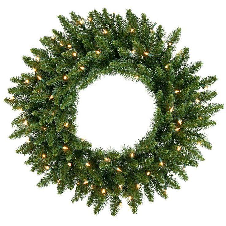 30 in. Camdon Fir Pre-lit Christmas Wreath - A861031