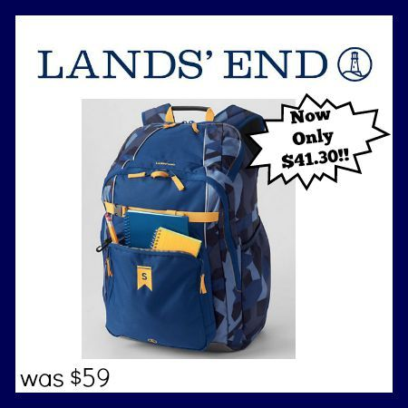 LOVE that Lands' End guarantees their product forever. No matter how long you've had it!! Plus, there is a 30% off coupon!!