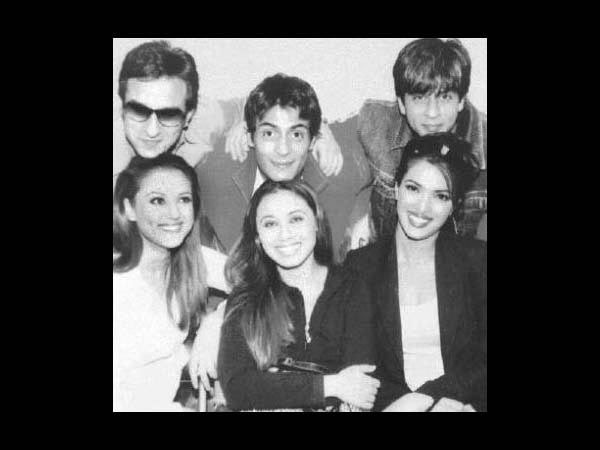 #OldIsDiamond  1st row from left- Preity Zinta Rani Mukherji Priyanka Chopra 2nd row from left- Saif Ali Khan Arjun Rampal Shah Rukh Khan  *Stars* together. Don't they make a beautiful constellation?! ;)