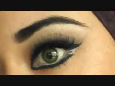 LIVE Haifa Wehbe Arabic Makeup Tutorial هيفاء وهبي مكياج للعيون NO EDITING