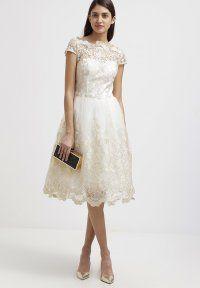 Chi Chi London - Sukienka koktajlowa - white/gold