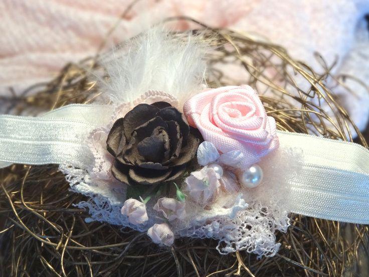 Haarbänder - Baby Haarband Fotoshooting Accessoire Taufe Prop - ein Designerstück von MONICCI_Handmade_Props bei DaWanda